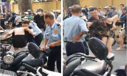 Bức xúc cảnh chồng đánh vợ dã man ngay trên phố để bảo vệ nhân tình hot girl