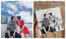 Matt Liu - Hương Giang đồng loạt phản ứng trước bức vẽ khắc họa cảnh khóa môi trên du thuyền