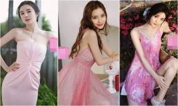 Loạt mỹ nhân Hoa ngữ 'chữa sến' cho váy hồng
