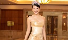 Bị hỏi có chạnh lòng vì không được ngồi ghế giám khảo như Hoa hậu Đỗ Mỹ Linh, Tiểu Vy nói gì?