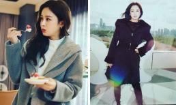 Kim Tae Hee tự tung ảnh hậu trường đáp trả chỉ trích già nua, xuống sắc