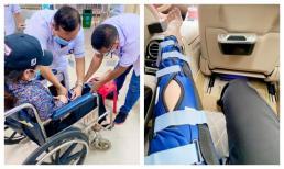 Nhật Kim Anh bị tai nạn phim trường phải nẹp chân 2 tuần khiến ai cũng lo lắng