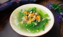 Trong món ăn này, hàm lượng caroten gấp 30 lần dưa chuột, nấu thành canh rất thơm và ngon