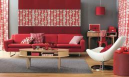 Top 4 mẫu sofa màu đỏ cho phòng khách thêm nổi bật