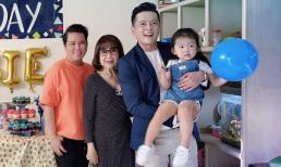 Ca sĩ Quang Toàn trẻ trung đến chúc mừng sinh nhật con gái diễn viên Hoàng Anh