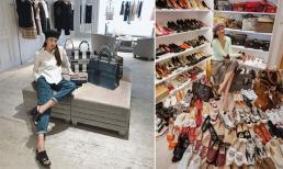 Thanh Hằng khoe tủ đồ hàng hiệu 'khủng': Túi xách, giày dép đắt đỏ để la liệt dưới sàn nhà vì hết chỗ