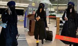 Phạm Băng Băng diện đồ đen xì xuất hiện tại sân bay, hành động vội vã mới đáng chú ý