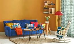 Tường màu vàng chọn sofa màu gì thì phù hợp?