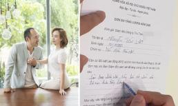 Tiến Luật viết đơn xin Thu Trang tăng lương và cái kết