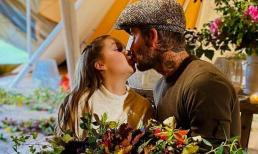 David Beckham lại gây xôn xao dư luận khi để con gái 9 tuổi hôn môi