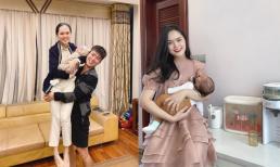 Duy Mạnh đăng ảnh bế cả vợ lẫn con, nhưng nhan sắc sau sinh của Quỳnh Anh mới là tâm điểm