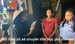 Thuỷ Tiên gây xúc động khi tài trợ cho 2 trẻ em nghèo miền Trung có kinh phí học hết đại học