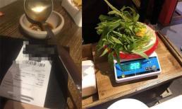 Đi ăn buffet bị phạt 200 nghìn vì thừa 2,9 lạng rau, thực khách còn tố thêm: 'Tôm, thịt, cá không có, còn rau bắt dùng hết'