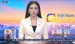 MC Mai Ngọc gặp sự cố bụng đau quặn từng hồi khi dẫn chương trình thời sự