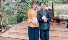 Nhã Phương khoe ảnh diện đồ lam đi chùa cùng chồng, fan nức nở khen có tướng phu thê