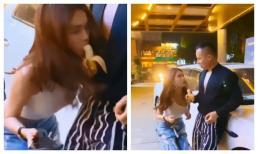 Ngọc Trinh bị chê thô tục trong clip ăn chuối trên tay Vũ Khắc Tiệp