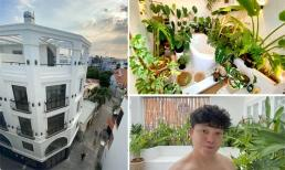Góc vườn xanh mướt bên trong biệt thự của Trịnh Tú Trung