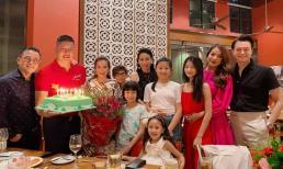 Diễn viên Bình Minh đón sinh nhật bên vợ con và bạn bè