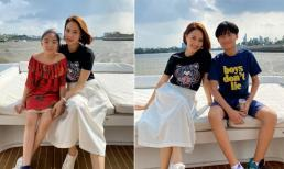Hồng Diễm hiếm hoi khoe ảnh của hai nhóc tỳ: Con trai được khen như sao Hàn, 'gái rượu' gây ấn tượng bởi vẻ ngoài dễ thương