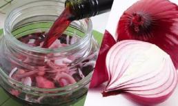 Công dụng tuyệt vời khi uống hành tây ngâm rượu vang đỏ