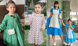 Con gái siêu mẫu Hà Anh được mẹ lên đồ 'chuẩn quý cô' ngay từ bé