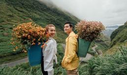 Quang Vinh ngắm hoa tam giác mạch nở rộ ở Hà Giang cùng Yến Trang
