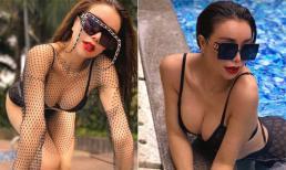 Trà Ngọc Hằng diện bikini hai mảnh, phô 'gò bồng đảo' căng tràn