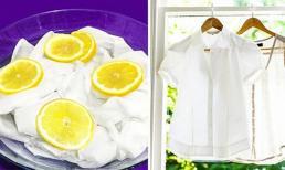 7 mẹo tẩy trắng quần áo với nguyên liệu dễ tìm, không độc hại