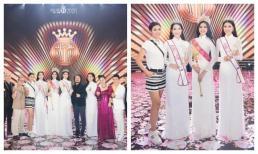 Chụp hình với tân hoa hậu Đỗ Thị Hà, Hoa hậu Ngọc Hân phải dùng tiểu xảo