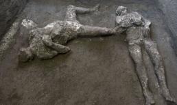 Thành phố cổ đại Pompeii phát hiện ra hai bộ hài cốt đã chết trong một vụ phun trào núi lửa 2000 năm trước
