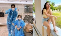 Á hậu Diễm Trang và chồng con chính thức đặt chân về nước sau 9 tháng kẹt ở Ba Lan vì dịch Covid-19