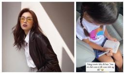 Trước khi đi học, con gái Hà Tăng xin vài giây để làm điều bất ngờ này