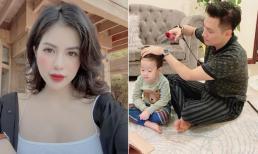 Hương Trần đăng ảnh chồng cũ Việt Anh chăm con, kèm chia sẻ bức xúc về người hàng xóm vô duyên