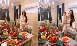 Hoa hậu Phạm Hương cùng con trai đón ngày lễ Tạ ơn tại Mỹ