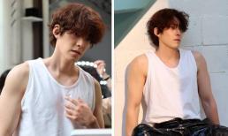 Loạt ảnh hậu trường chứng minh căn bệnh ung thư không thể 'cướp' đi cơ bắp của Kim Woo Bin