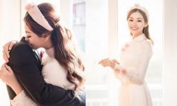 Hé lộ hình ảnh đẹp long lanh trong lễ rước dâu của Á hậu Tường San: Chân dung chồng sắp cưới vẫn là 'ẩn số'