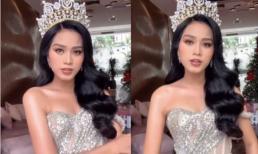 Hé lộ những hình ảnh xuất thần ngoạn mục của Hoa hậu Đỗ Thị Hà sau khi bị chê nhan sắc