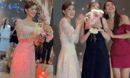 Tiểu Vy bắt được hoa cưới từ Tường San nhưng vội vã dúi ngay vào tay Đỗ Mỹ Linh?