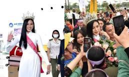 Hoa hậu Việt Nam Đỗ Thị Hà về quê, hàng nghìn người dân Thanh Hóa bao vây đón chờ