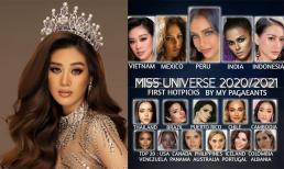Đại diện Việt Nam - Khánh Vân đứng thứ mấy trên bảng xếp hạng Miss Universe 2020?