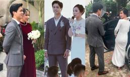 Sở hữu gia tài 'khủng', nhưng ngày trọng đại Công Phượng lại khá giản dị khi mặc một bộ vest xuyên 3 đám cưới