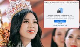 Facebook của Hoa hậu Đỗ Thị Hà bỗng 'biến mất' sau ồn ào không follow Jisoo - BlackPink