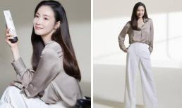 Loạt ảnh hậu trường 'vạch trần' sắc vóc thật của U50 Choi Ji Woo sau nửa năm sinh con đầu lòng