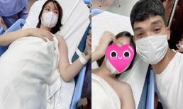 Mạc Văn Khoa và vợ quay clip cảm ơn, tiết lộ cả gia đình đang nôn nóng gặp con gái mới sinh