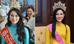 Loạt ảnh Đặng Thu Thảo về thăm trường khi mới đăng quang Hoa hậu bỗng gây sốt, dân mạng réo tên Đỗ Thị Hà để so sánh