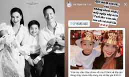 Từng đưa bé Subeo đi chạy show ngày cuối năm, nay Hà Hồ tuyên bố từ bỏ tất cả vì các con