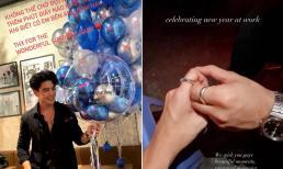 'Bạn trai tin đồn' của Ngô Thanh Vân đeo nhẫn đôi hạnh phúc vì được đón năm mới bên người yêu