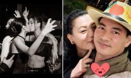 Sao Việt 1/1/2021: Ngọc Trinh gây xôn xao với màn khóa môi đồng giới, Xuân Bắc đón năm mới ngọt ngào bên bà xã