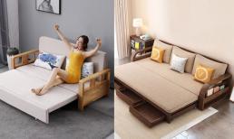 6 ưu điểm của sofa giường gỗ thông minh mà bạn nên biết