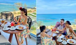 Gia đình Đoan Trang đi du lịch Phú Quốc, nhan sắc của con gái khiến dân tình 'lụi tim'